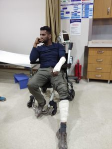 Vishal Met Accident