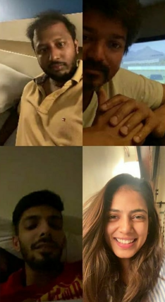 Master team in video call