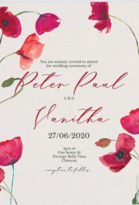 Vanitha marriage invitation