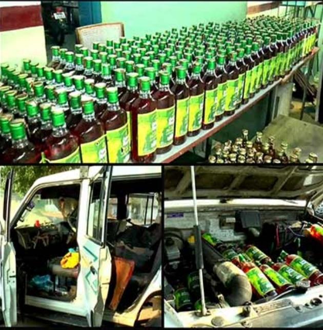 Liquor bottles seized from Ramya Krishnan car